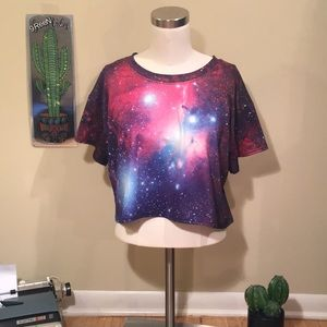 Tops - Psychedelic Trippy Colorful Crop Top
